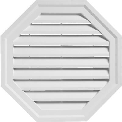 "Ply Gem 18"" Octagon White Gable Attic Vent"