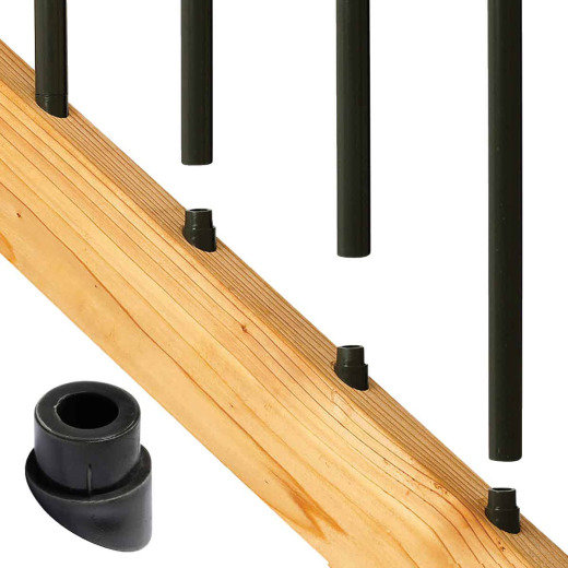 Deckorators Black Plastic Classic Stair Baluster Connector (20-Pack)
