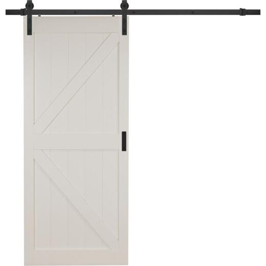 Erias Home Designs 36 In. x 84 In. x 1-3/8 In. K-Style Stone Barn Door Kit