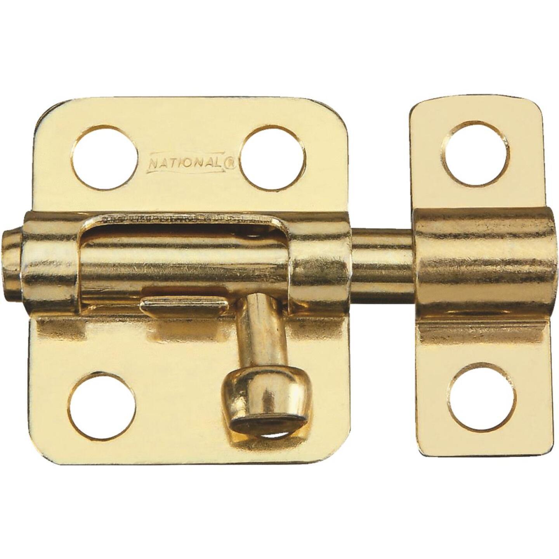 National 2 In. Satin Brass Cellar Window Barrel Bolt Image 1