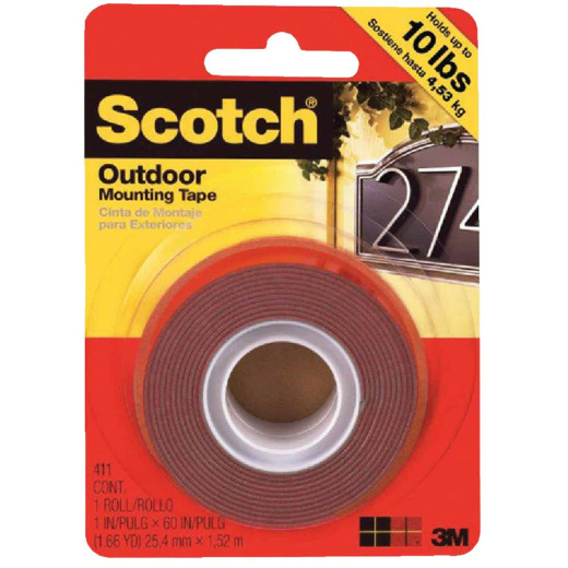 3M Scotch 1 In. x 60 In. Double-Sided Outdoor Mounting Tape (10 Lb. Capacity)