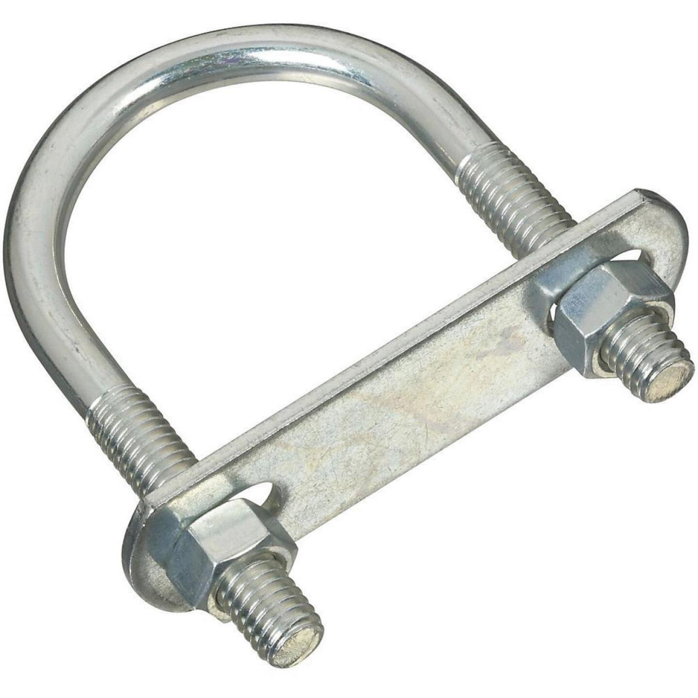 National 3/8 In. x 195 In. x 3.5 In. Zinc Round U Bolt Image 1