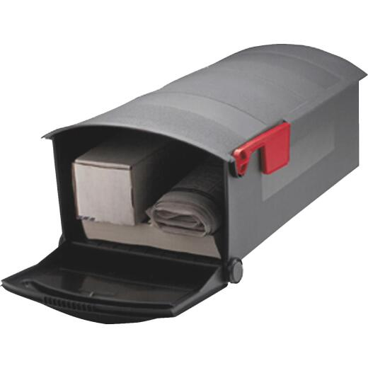 Gibraltar Patriot Plastic Post Mount Mailbox