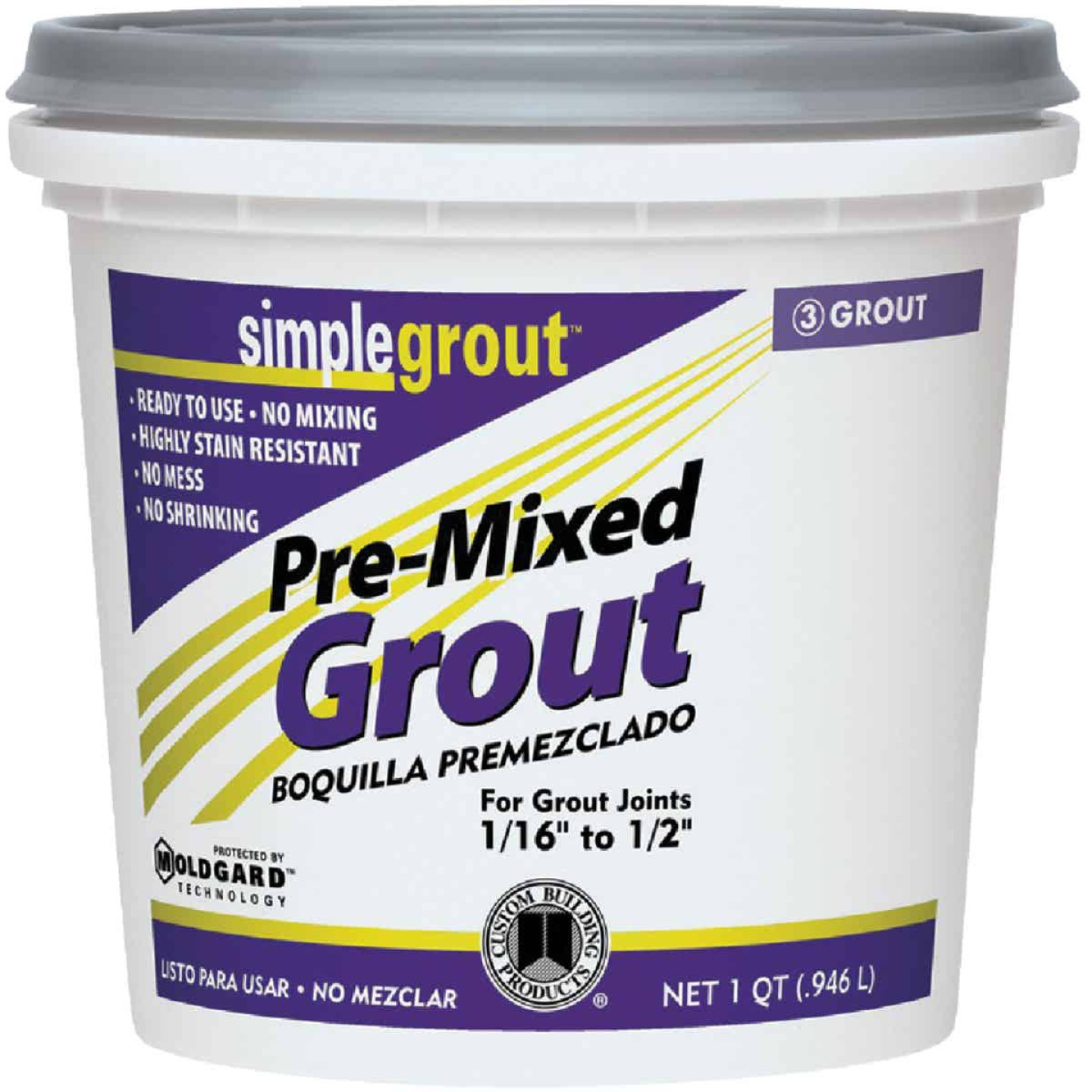 Custom Building Products Simplegrout Quart Natural Gray Sanded Tile Grout Image 1