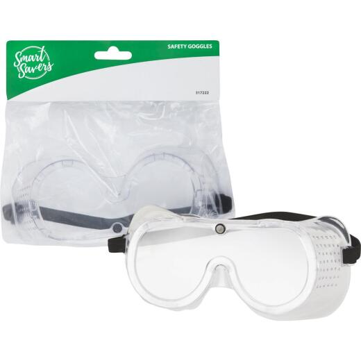 Smart Savers Clear Frame Safety Goggles with Anti-Fog Clear Lenses