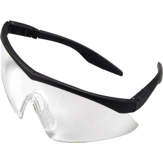 Safety Works Straight Temple Black Frame Safety Glasses with Anti-Fog Clear Lenses