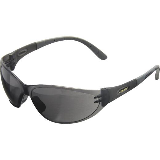 Safety Works Tinted Contoured Black Frame Safety Glasses with Anti-Fog Tinted Lenses