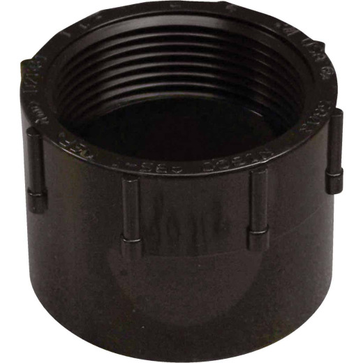 Charlotte Pipe 1-1/2 In. Hub x FIP Female ABS Adapter