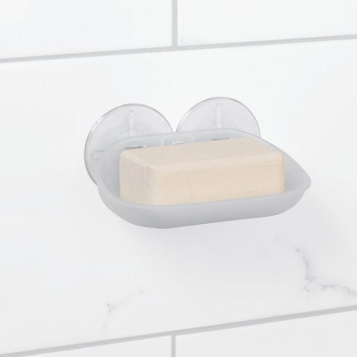Zenna Home Frosted Finish Suction Soap Dish