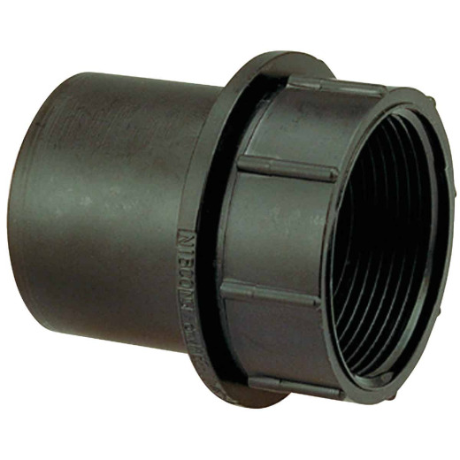 Charlotte Pipe 1-1/2 In. Spigot x Female NPSM Tray Plug ABS Adapter