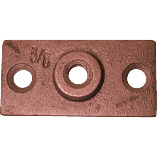 Jones Stephens 3/8 In. Copper-Plated Ceiling Flange