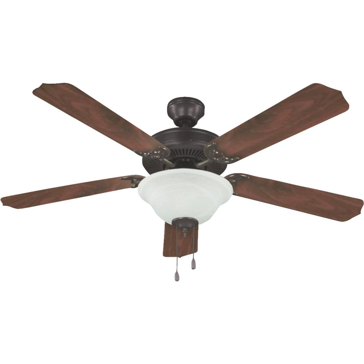 Home Impressions Baylor 52 In. Oil Rubbed Bronze Ceiling Fan with Light Kit Image 1