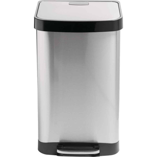 Honey Can Do 50L Stainless Steel Wastebasket