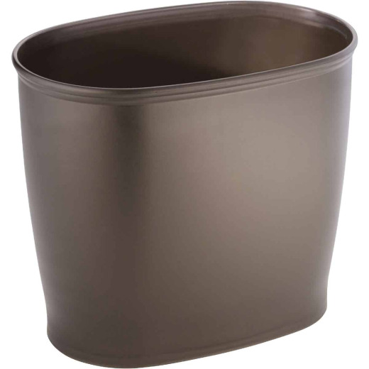 iDesign Kent 2 Gal. Bronze Oval Wastebasket