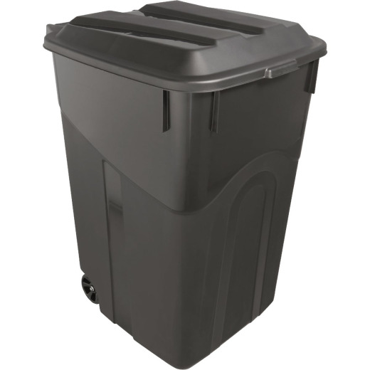 United Solutions Rough and Rugged 45 Gal. Wheeled Trash Can with Attached Lid