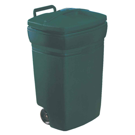 Rubbermaid 45 Gal. Green Wheeled Trash Can with Lid