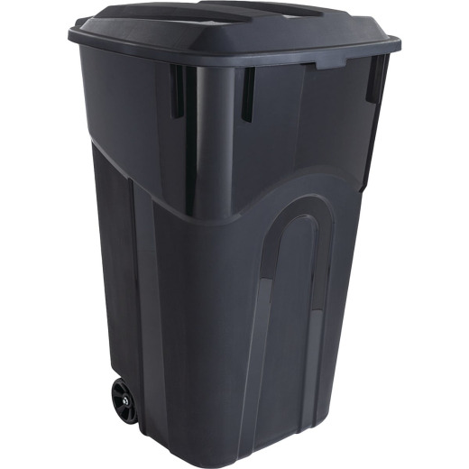 United Solutions Rough and Rugged 32 Gal. Wheeled Trash Can with Attached Lid