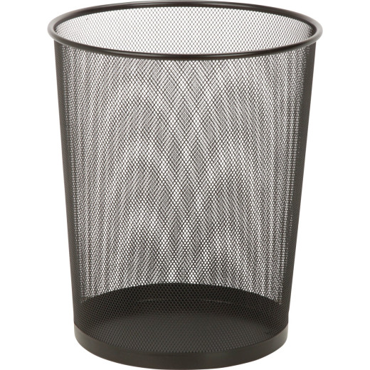 Honey Can Do 18 Liter Black Mesh Wastebasket
