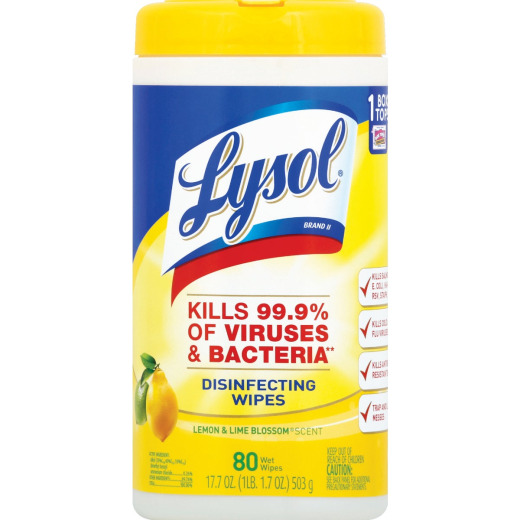 Lysol Lemon & Lime Blossom Disinfecting Wipes (80-Count)