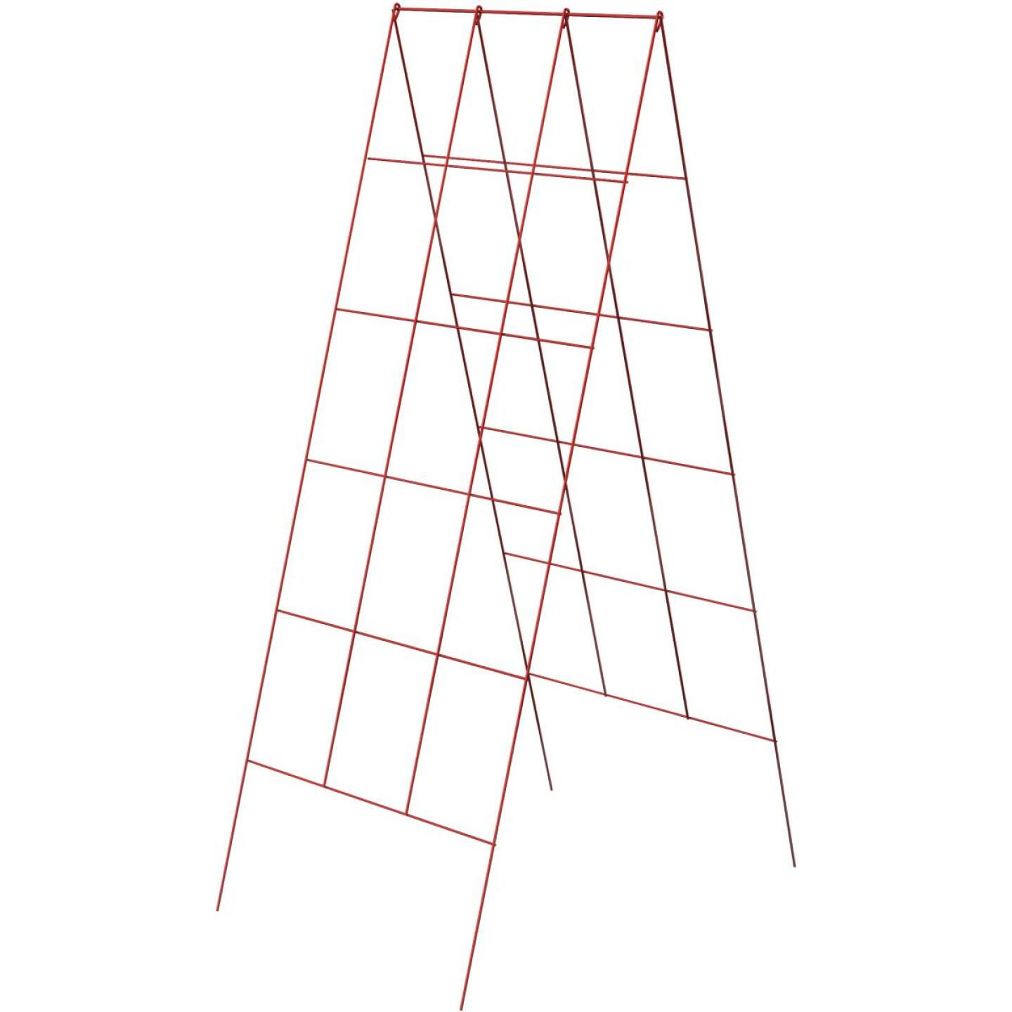 Panacea 48 In. H. Red Heavy-Duty Wire A-Frame Plant Support Image 1