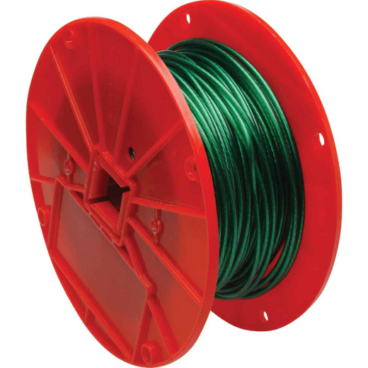 Campbell 1/16 In. x 250 Ft. Vinyl-Coated Iron Clothesline Cable