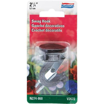 National 2-1/4 In. Black Die Cast Swag Hook