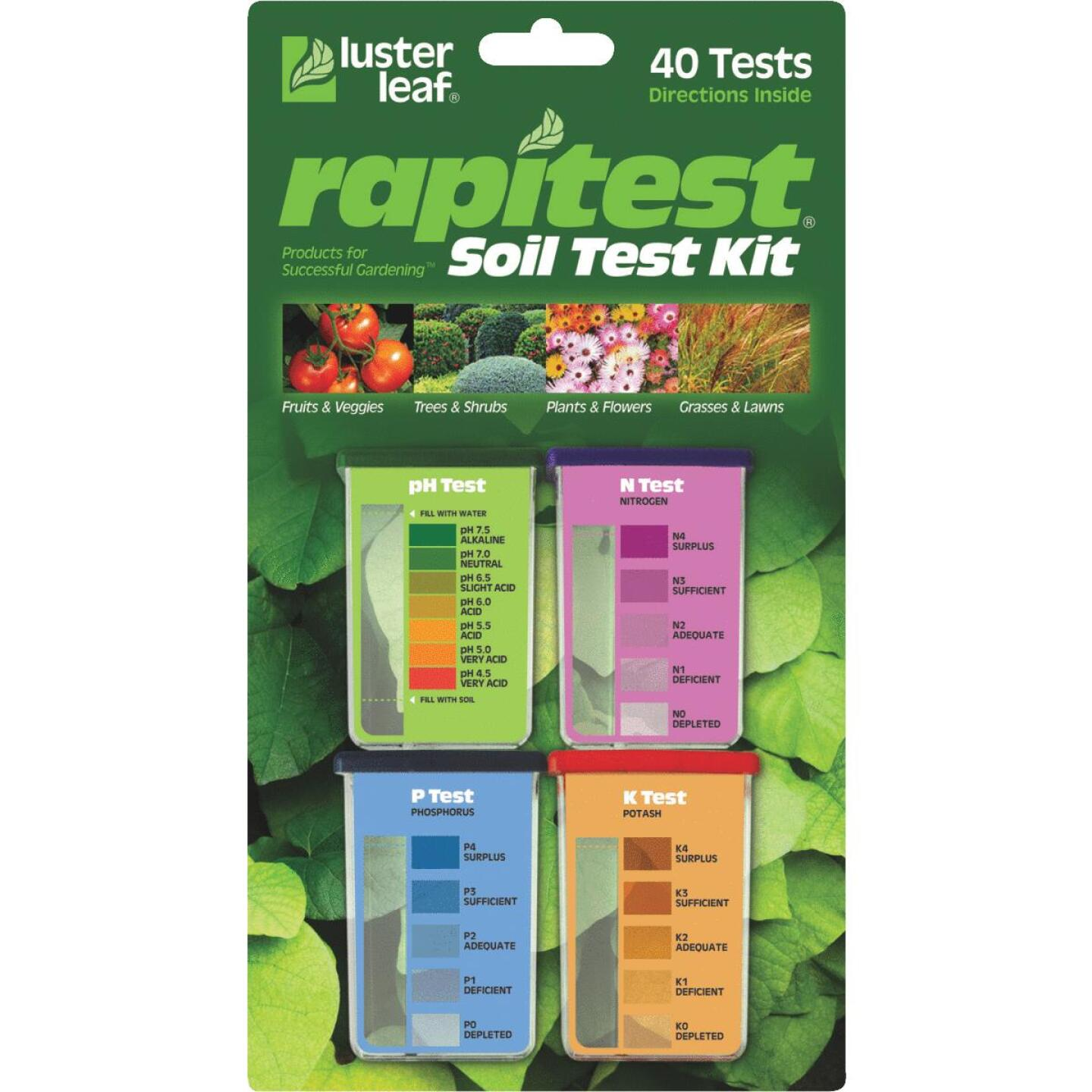 Rapitest Plastic Soil Tester Kit (4-Pack) Image 1