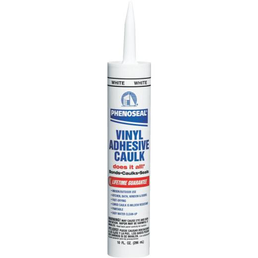 Phenoseal 10 Oz. White Vinyl Adhesive Caulk