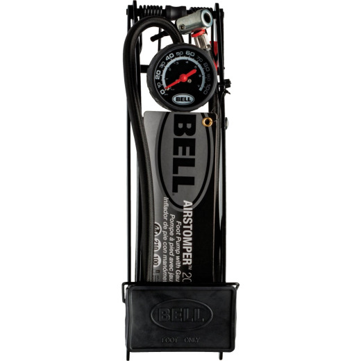 Bell Sports Airstomper 200 100 psi Steel Frame Multi-Sport Foot Pump