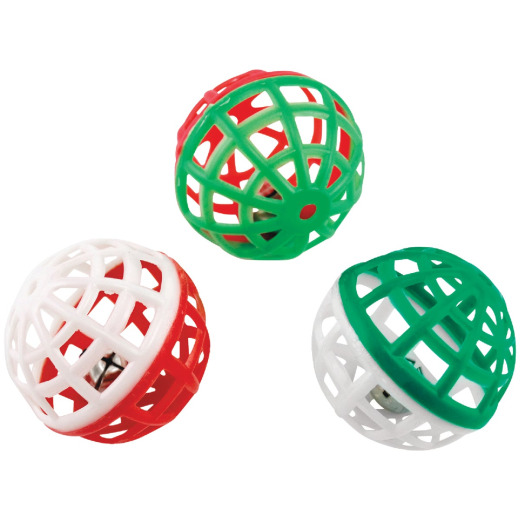 Westminster Pet Ruffin' it Ball Cat Toy (3-Pack)