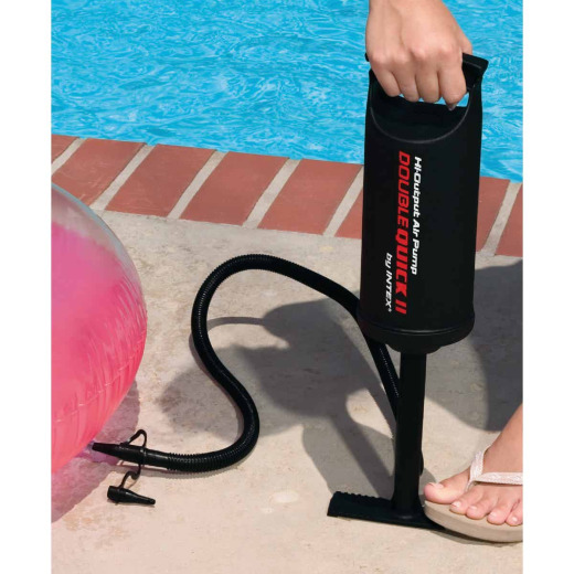 Intex High Output Air Hand Pump, 14 In., 3 Nozzles Included